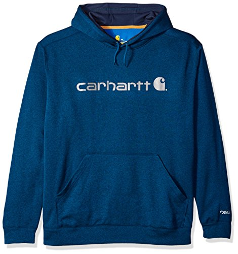 Carhartt Men's Big and Tall Force Extreme Hooded Sweatshirt (Regular and Big & Tall Sizes), Huron Heather, 3X-Large