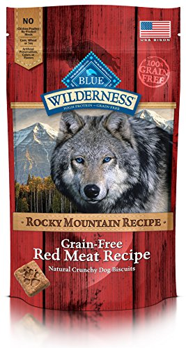 BLUE Wilderness Rocky Mountain Recipe Recipe Recipe Grain-Free Red Meat Biscuits Dog Treats 8-oz