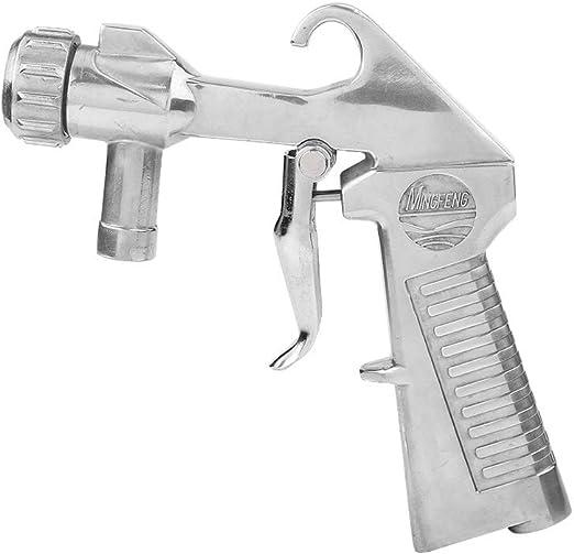 couleur: argent Pistolet /à jet de sable avec pistolet de sablage /à air comprim/é pour pistolet /à jet de sable abrasif