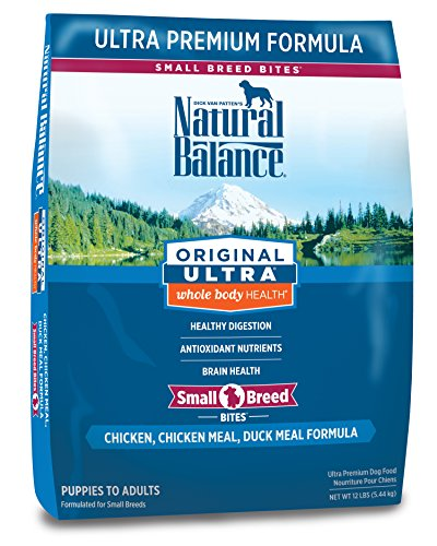 Natural Balance Small Breed Bites Dry Dog Food, Original Ultra Whole Body Health, Chicken, Chicken Meal, Duck Meal Formula, 12-Pound