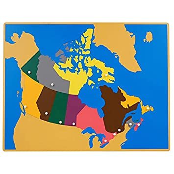 Map Of Canada Today.Leader Joy Montessori Puzzle Map Of Canada Amazon Com Au Office