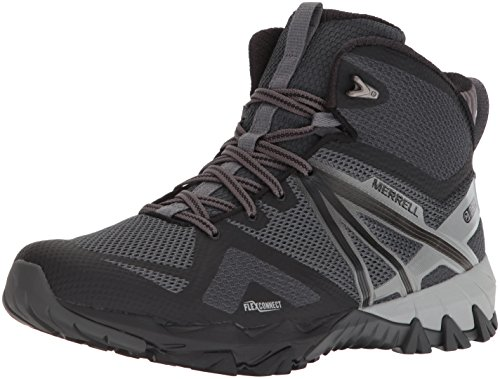 outlet store 89523 2138e Merrell MQM Flex Mid Waterproof Hiking Shoes, Black, 10.5 M US Adult