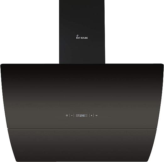 Campana extractora de pared (90 cm, acero inoxidable, cristal negro, extra silenciosa, 593m³/h, iluminación LED, 4 niveles, teclas de sensor TouchSelect) CURVE906S - KKT KOLBE: Amazon.es: Hogar