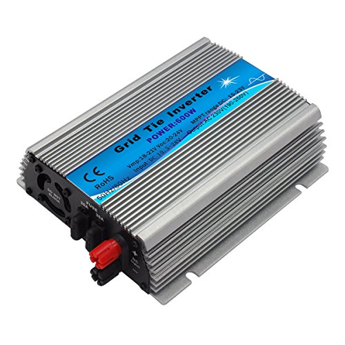 - Y&H 600W Grid Tie Inverter Stackable MPPT DC10.5-28V Input AC110V fit for 12V Solar Panel / 24V Battery