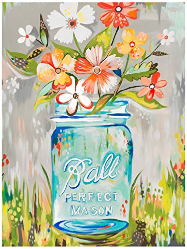 Wheatpaste - Ballperfect Mason Jar canvas Wall Art, by Katie Daisy
