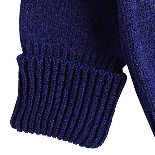 20 Lunghe Anni Lunghe A E Maniche Lavorato Pipistrello Maglione Autunno Inverno Blu Maglia Con Elodiey In q8US0w