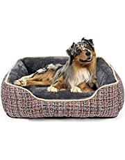 JOEJOY Dog Bed for Medium Dogs, Rectangle Washable Dog Beds, Orthopedic Sleeping Dog Sofa Bed, 20/25/30/35 Inch Soft Puppy Bed for Large Medium Small Dogs Non-Slip Bottom