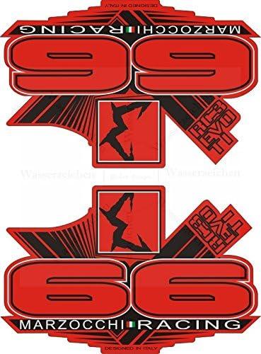 Marzocchi-Racing-66-Rot AD100-UV/&Waschanlagenfest-Auto-Sticker Decal Profi Qualit/ät farbig Digital-Schnitt! 15cm Aufkleber-Folie Wetterfest Made IN Germany kompatibel f/ür
