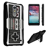 Cheap ZTE Grand X4 Case, DuroCase Hybrid Dual Layer Combat Armor Style Kickstand Case w/Belt Clip Holster Combo for Cricket ZTE Grand X 4 Z956 (Released in 2016) – (Game Controller)