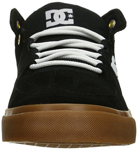 DC Lynx Vulc Mid Unisex Shoe, Grey/White, 11 M US Black/White/Gum