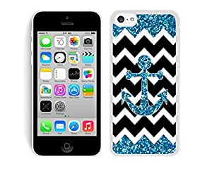 TPU Stripe Phone Cases for Iphone 5c Anchor Chevron Soft Silicone Rubber Cell Phone White Cover by lolosakes