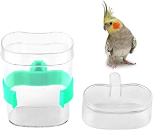 HEEPDD Bird Water Feeder, Automatic Water Drink Container Food Dispenser Cage Birds Supplies for Parrot Budgie Cockatiel Conure Lovebirds Finch