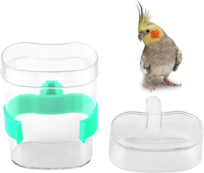 Wodwad Automatic Pet Bird Parrot Water Feeder Practical Plastic Drinking Bowl for Cage