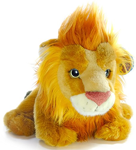 Lenox the Baby Lion | 13 Inch Large Lion Stuffed Animal Plush Cat | By Tiger Tale Toys