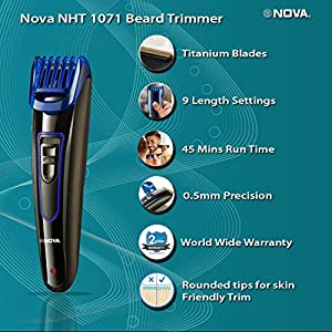 Best Nova NHT-1071 Titanium Coated USB Trimmer for Men In India 2020