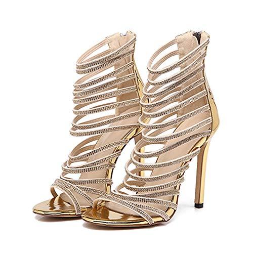 HRCxue Pumps Sexy Schuhe der Frauen fischen Mund Stiletto Heels Strass Nachtclub