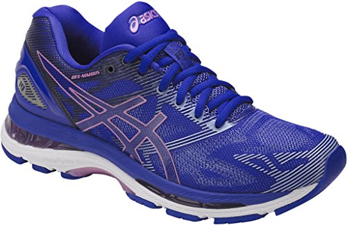 ASICS Women's Gel-Nimbus 19 Running Shoe, Blue Purple/Violet/Airy Blue, 7 Medium US Online Sports Mesh Gloves