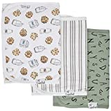 """Copper Pearl Baby Burp Cloth Large 21''x10'' Size Premium Absorbent Triple Layer 3-Pack Gift Set""""Chip Set"""", 4 Ounces"""