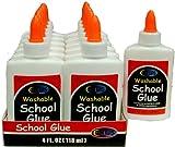 School Glue Bulk - White - 4 oz. Squeeze Bottle 48 pcs sku# 1458223MA