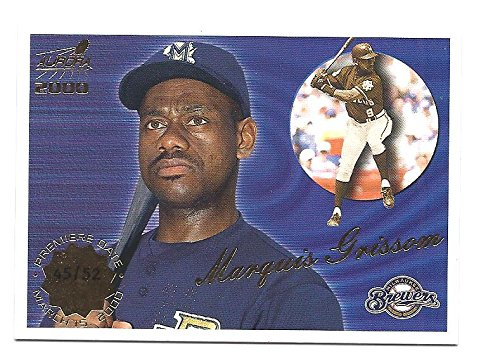 MARQUIS GRISSOM 2000 Pacific Aurora #79 PREMIERE DATE PARALLEL Card #45 of only 52 Made! Milwaukee Brewers Baseball