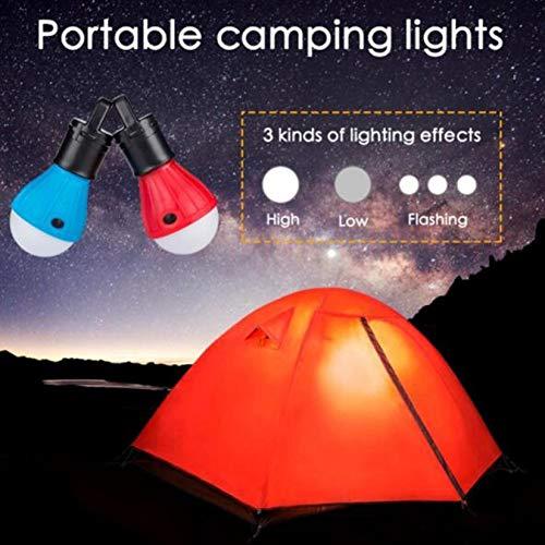 ZengBuks Luz de la Tienda de campa/ña luz de Camping Rojo