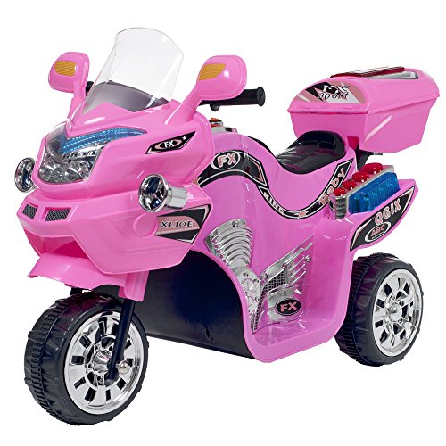 - Ride on Toy, 3 Wheel Motorcycle Trike for Kids by Rockin' Rollers  - Battery Powered Ride on Toys for Boys and Girls, 2 - 5 Year Old - Pink FX