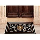 Edinburgh Estate Doormat - Monogrammed Black & Suede S 2 x 3