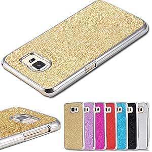 LCJ Colorful Glitter Back Case for Samsung S6(Assorted Color) , Black