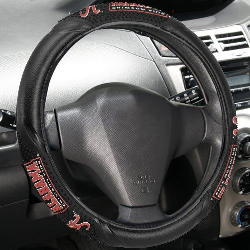 NCAA Alabama Crimson Tide Massage Steering Wheel Cover, Black, One Size