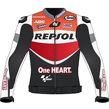 Marc Márquez Moto motocicleta de carreras chaqueta de cuero réplica de GIE
