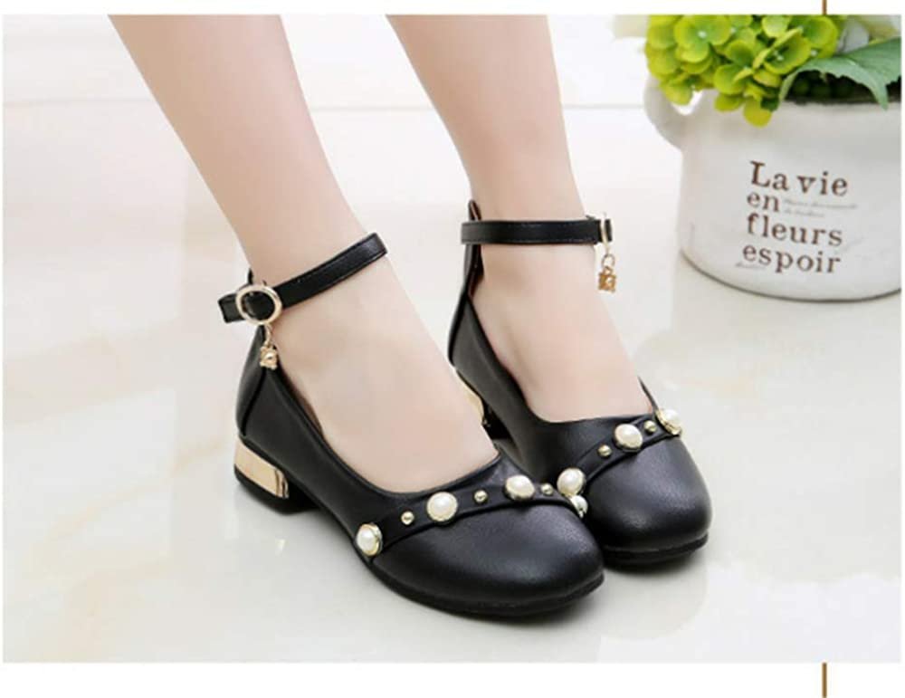 stay real Dress Shoes Girls Pearl Girls Dress Shoes Low Heels Leather Shoes Kids Sandals
