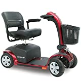 Pride Mobility - Victory 10 - Full-Sized Scooter - 4-Wheel - Candy Apple Red - PHILLIPS POWER PACKAGE TM - TO $500 VALUE