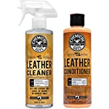 Chemical Guys SPI_208_16 Colorless and Odorless Leather Cleaner (16 oz) with SPI_401_16 Vintage Series Leather…