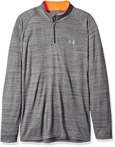 Under Armour Men's Tech 1/4 Zip Shirt, Black/Graphite, Large - Quarter Zip Shirt