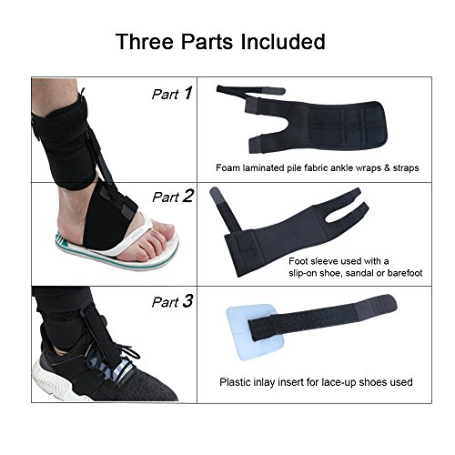 Right or Left Drop Foot Brace,Plantar Fasciitis Splint,Day/Night Dorsal Splint,Foot up Brace Prevent Dragging,Ware Barefoot/Inside Shoes,for Stroke,Achilles Tendonitis,Muscular Distrophy by igoeshopping (Image #5)