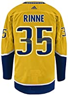 Pekka Rinne Nashville Predators Adidas NHL Men's Authentic Yellow Hockey Jersey