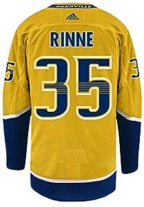 Pekka Rinne Nashville Predators Adidas NHL Men's Authentic Yellow Hockey Jersey
