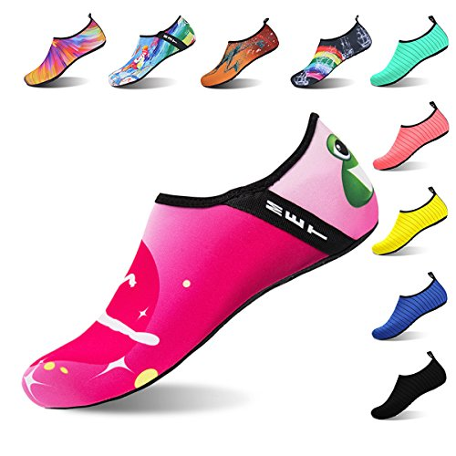 WateLves Womens and Mens Water Shoes Barefoot Quick-Dry Aqua Socks For Beach Swim Surf Yoga Exercise Ballet fnuHX0dtL