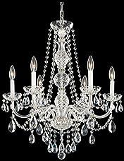 Schonbek 1303-40H Swarovski Lighting Arlington Chandelier, Silver