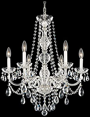 Schonbek 1303-40H Swarovski Lighting Arlington Chandelier, Silver