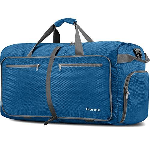 Gonex 150L Extra Large Duffle Bag, Packable Travel Luggage Shopping XL Duffel Deep Blue