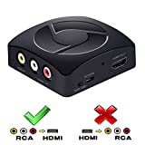 AV to HDMI Converter, Coukou RCA Composite AV CVBS to HDMI Audio Video Mini Converter Adapter 1080P, for PAL NTSC TV PC PS3 PS4 STB Xbox VHS VCR Blue-Ray DVD Players - Black