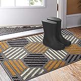 Color&Geometry Doormat, Indoor Outdoor Waterproof, Non Slip Washable Quickly Absorb Moisture and Resist Dirt Rugs(24'x36')