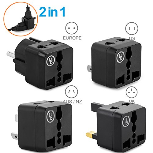 Yubi Power TL4 Worldwide Adapter Kit Type G Type E/F Type A Type I universal adapters