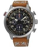Seiko - SSC421P1 - Montre Homme - Quartz - Chronographe - Chronomètre - Solaire - Bracelet cuir Marron