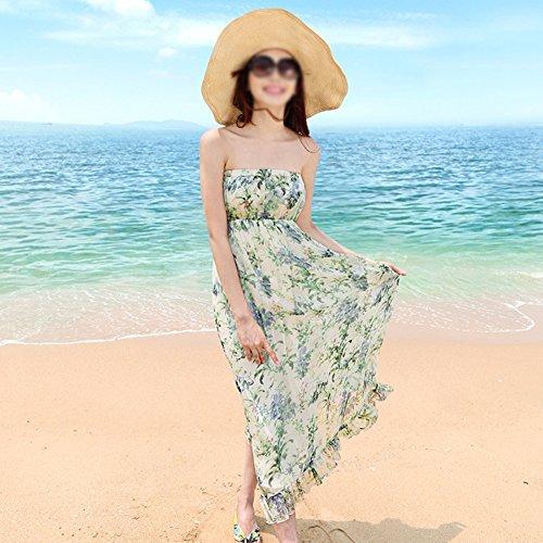 Shown Sleeveless Seaside Kleider As Print Sommer Dress langen Beach Rock z4qgqTnZ