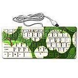 2017 Mini Green Apple Professional Full Keyboard For Working Or Gaming