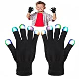 Toys for 4-5 Year Old Boys, WIKI Kids Colorful Flashing Finger The Best Gloving Lighting LED Gloves for Halloween Toys for 3-12 Year Old Boys Toys for 3-12 Year Old Girls Gifts for Teen Girls Boys WKUKST07