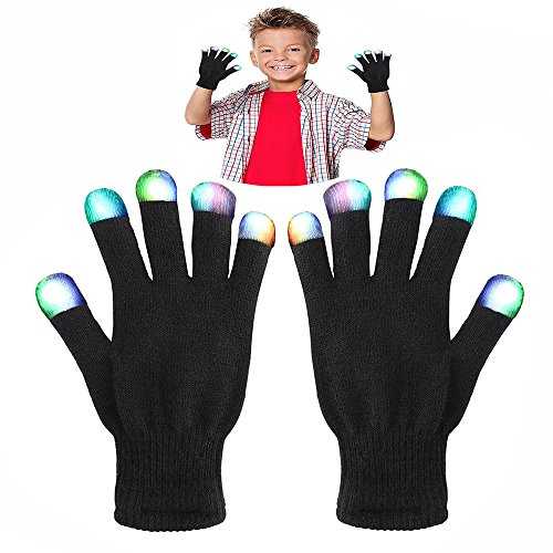 WIKI Gifts for 3-12 Year Old Boys, Kids Colorful Flashing Finger 2018 for 3-12 Year Old Girls The Best Gloving Lighting LED Gloves for Halloween Toys for Boys Grils Age 3-12 WKUSSTG07