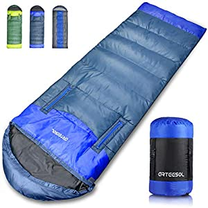 arteesol Reachable Mummy Sleeping bag Waterproof Hollow cotton filling for kids,Teens,Adults 4 Seasons Camping,Hiking,Outdoors (Navy Blue,2.3lbs)